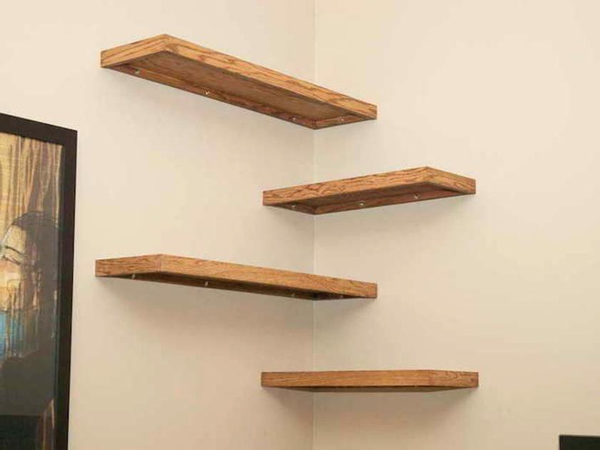 Etagere Angle Murale Bois D Occasion