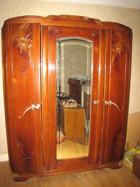 Armoire Ancienne Porte Miroir D Occasion