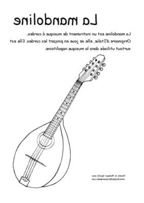 Cordes Mandoline Banjo Sol corde unique