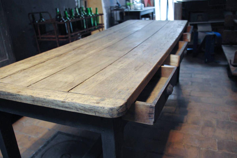 Table Ferme Ancienne Rustique Bois Chene Massif Doccasion