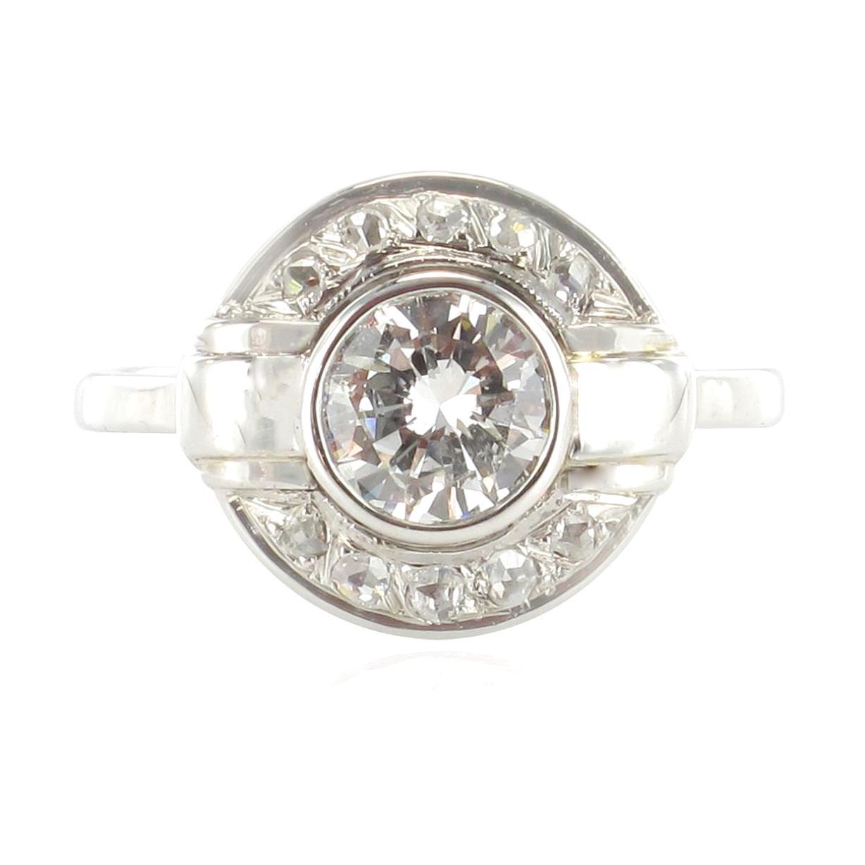 bague diamant art deco occasion