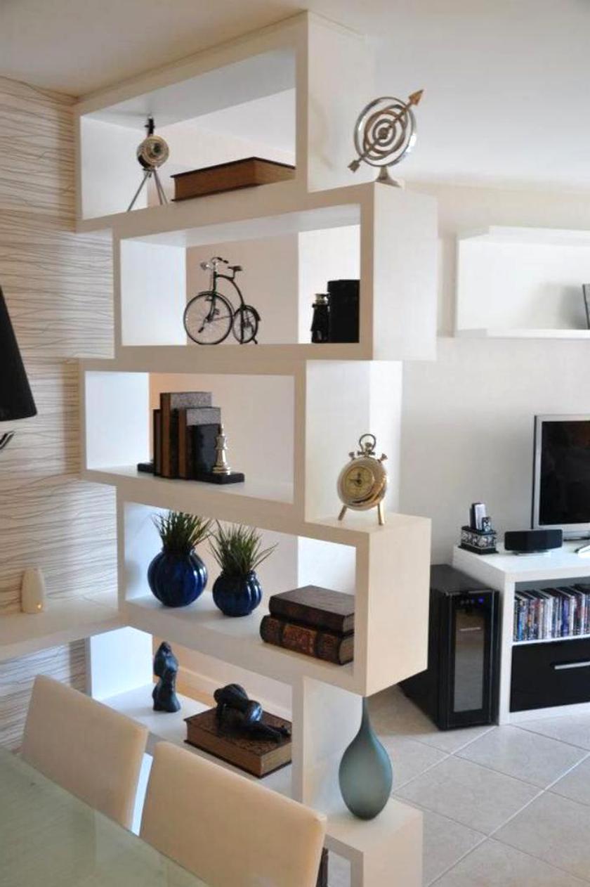 Vicco Cloison Levio 6 compartiments meuble de séparation étagère à livres Blanc