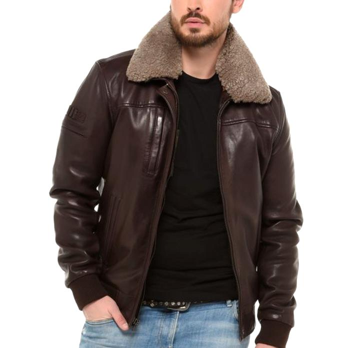 get cheap good looking new product Blouson Homme cuir veritable taille xxl