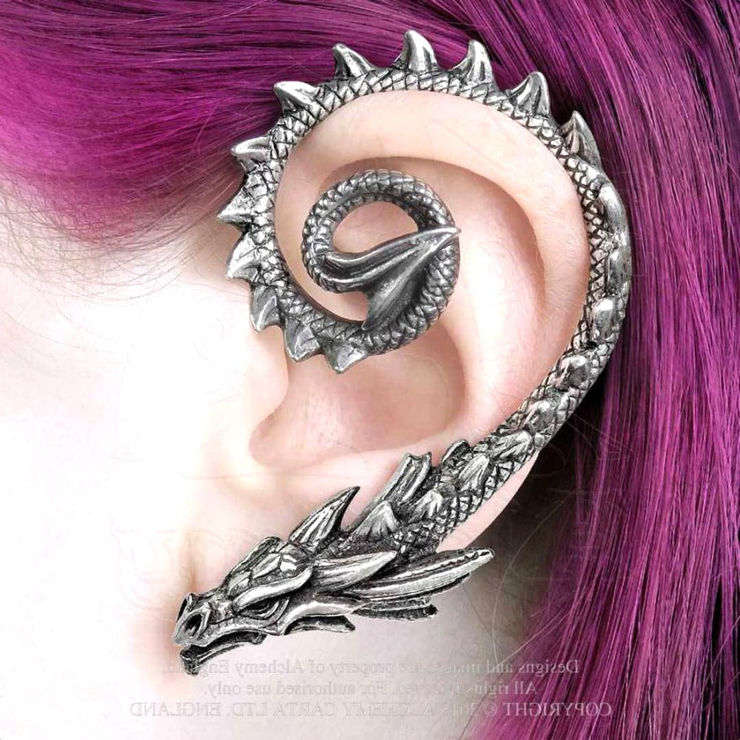 boucle d'oreille homme dragon