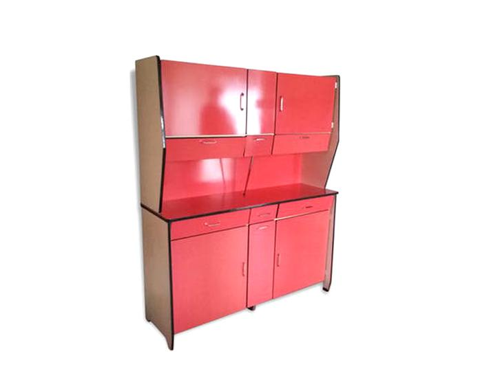 buffet formica rouge d'occasion