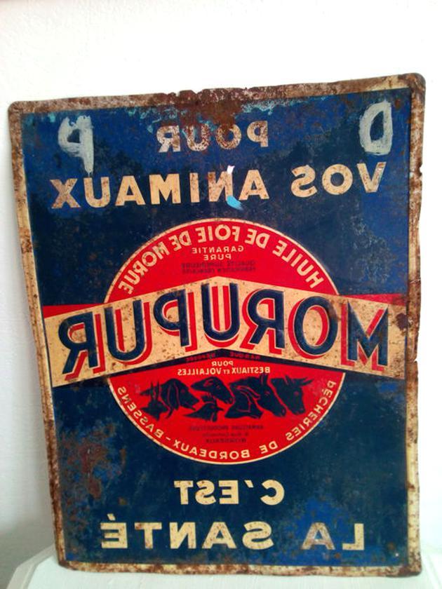 ancienne plaque publicitaire d'occasion