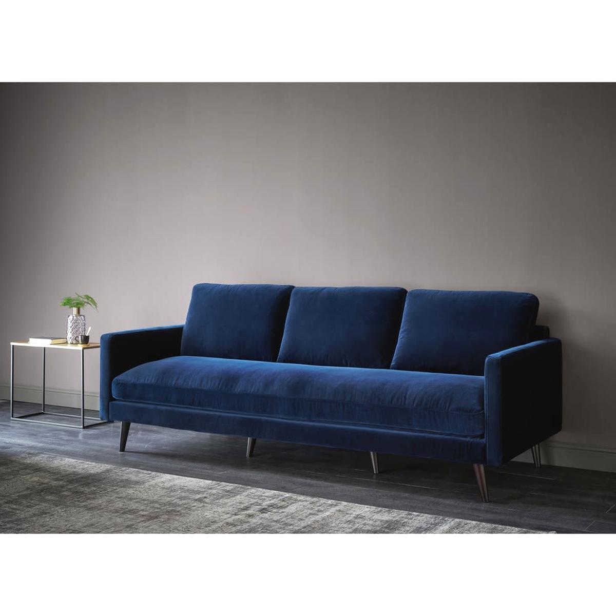 Canapé En Velours Cotelé canape velours bleu d'occasion