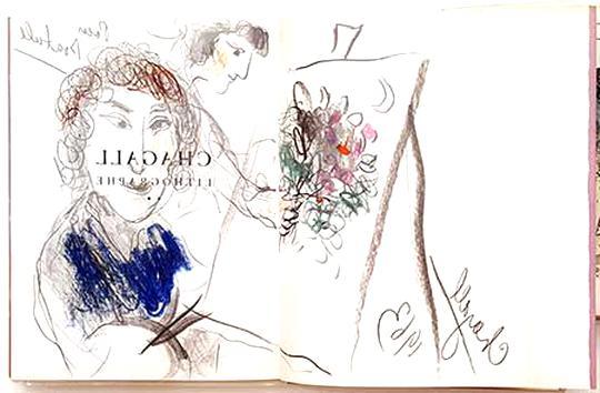 dessin chagall d'occasion