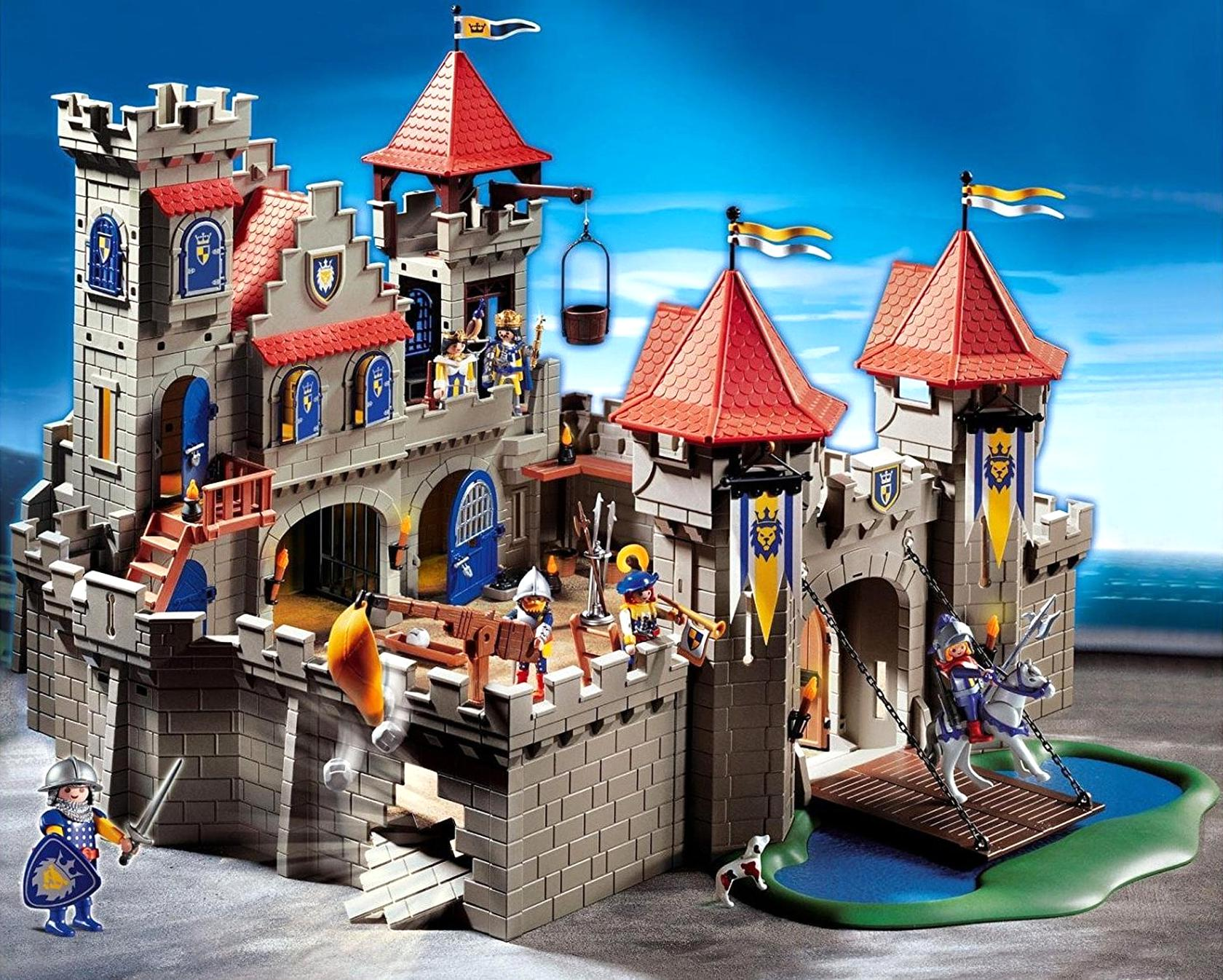 playmobil chateau medieval d'occasion