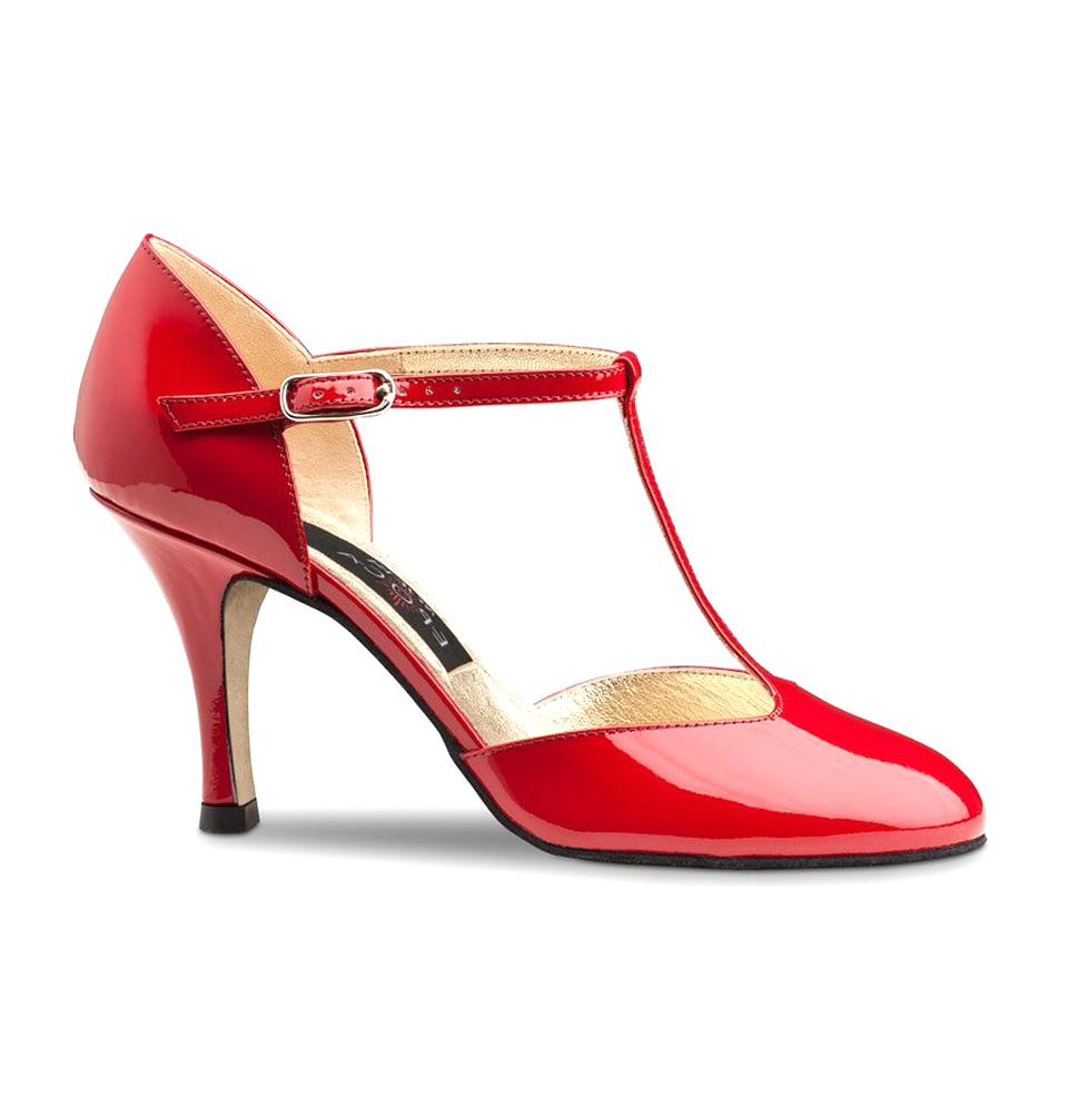 chaussures salome rouge d'occasion