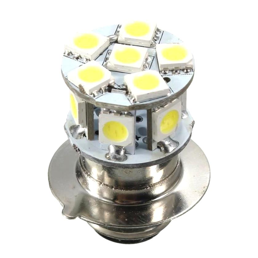 Sharplace H4 BA20D 6V-80V 6W 6500K COB LED Ampoule De Phare De Moto Voiture /Électrique