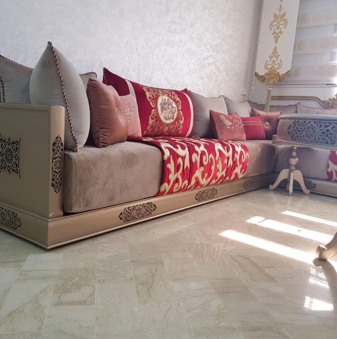 Occasion, meuble marocain marocain tour de lit sculpte anci