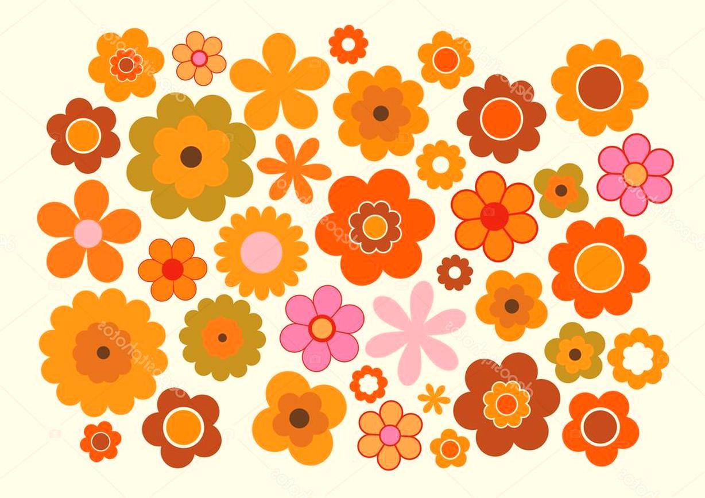 fleurs annees 70 d'occasion
