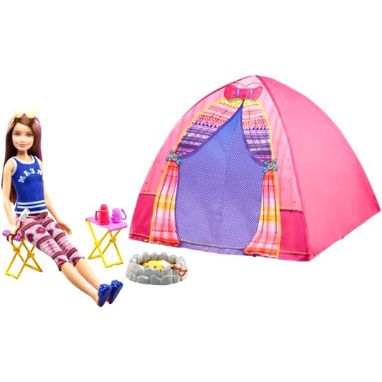 tente camping barbie d'occasion