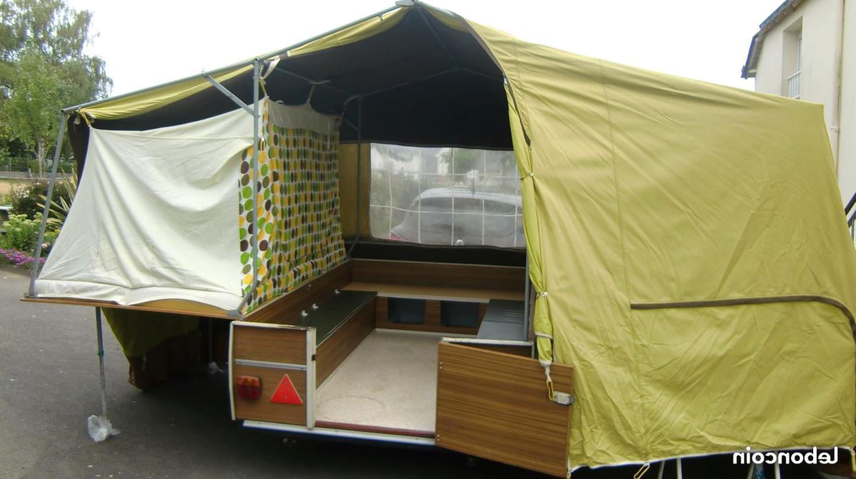 Petite caravane pliante toile