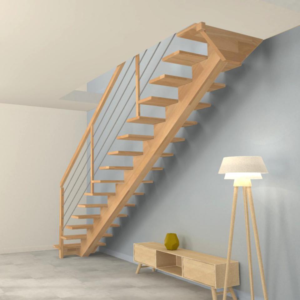 Escalier Modulaire Pas Cher escalier droit bois d'occasion | plus que 3 à -65%