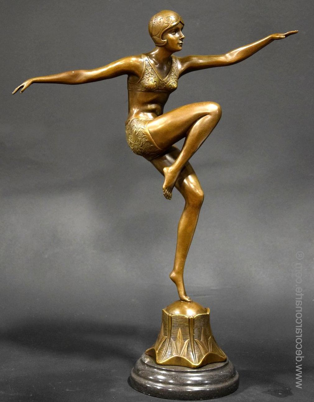 bronze art deco d'occasion