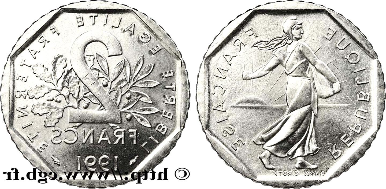 2 francs 1991 d'occasion