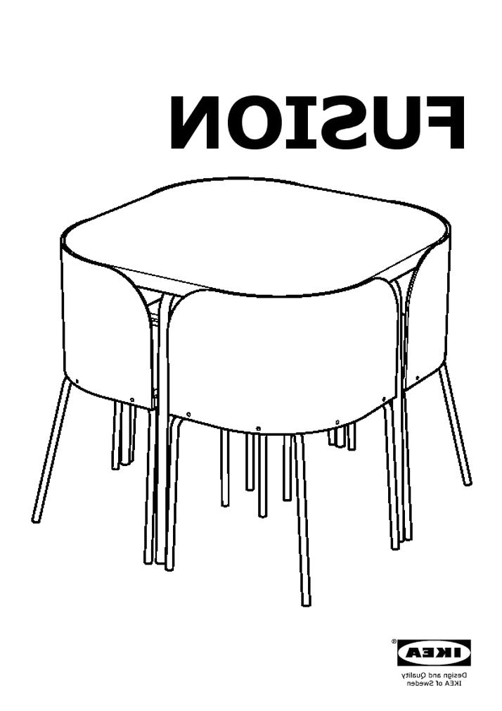 Table Chaises Fusion Ikea D Occasion