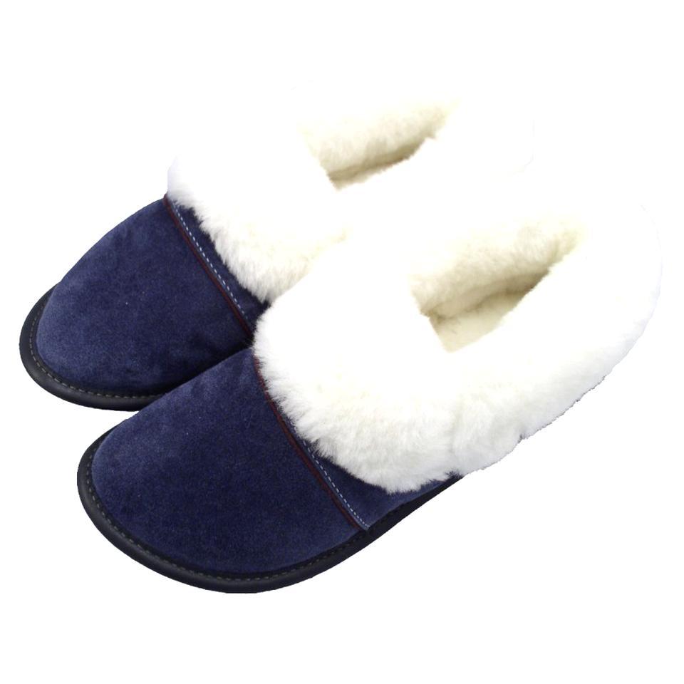 Cuir Laine de mouton moumoute Flocon de Neige Blanc Femmes Pantoufles Mules Taille 4 5 6 7 8 9