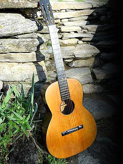 guitare parlor vintage d'occasion