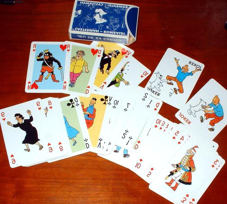 jeu cartes tintin rombaldi d'occasion
