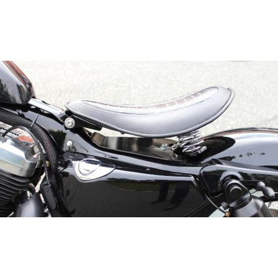 LEAGUE/&CO Ressorts et Support Kit de Selle Solo Marron pour Bobber//Chopper//Sportster//Custom