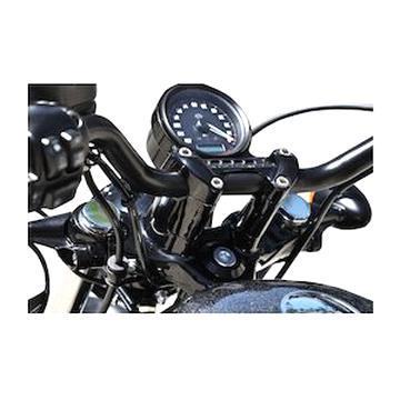 "Kit Riser Short 2/"" 5 cm Clamp Piastra Cromati Harley Sportster Dyna Softail XL"