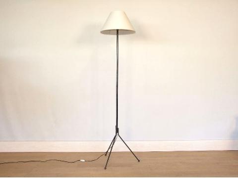lampadaire tripode vintage d'occasion