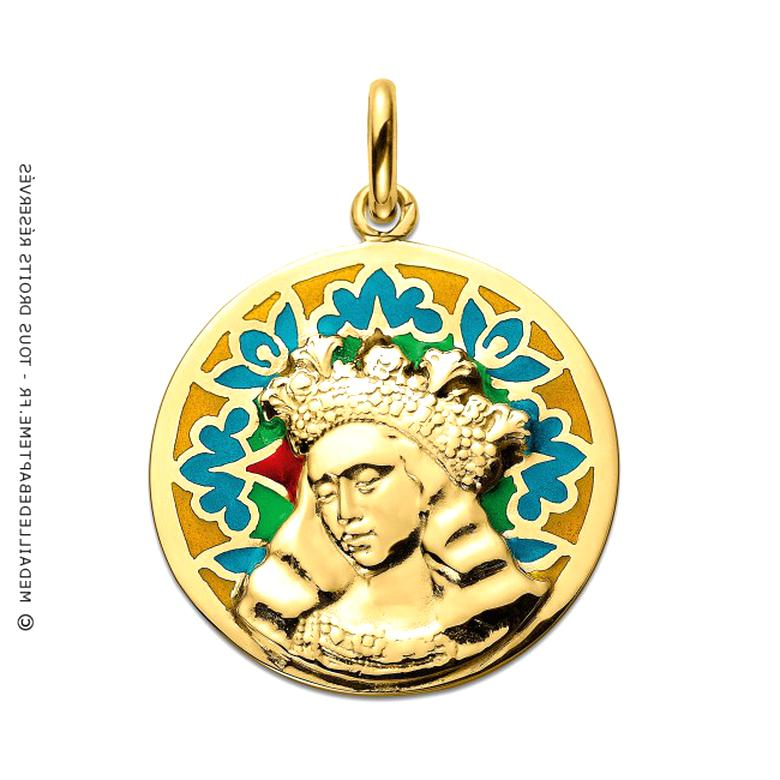 medaille vierge emaillee d'occasion
