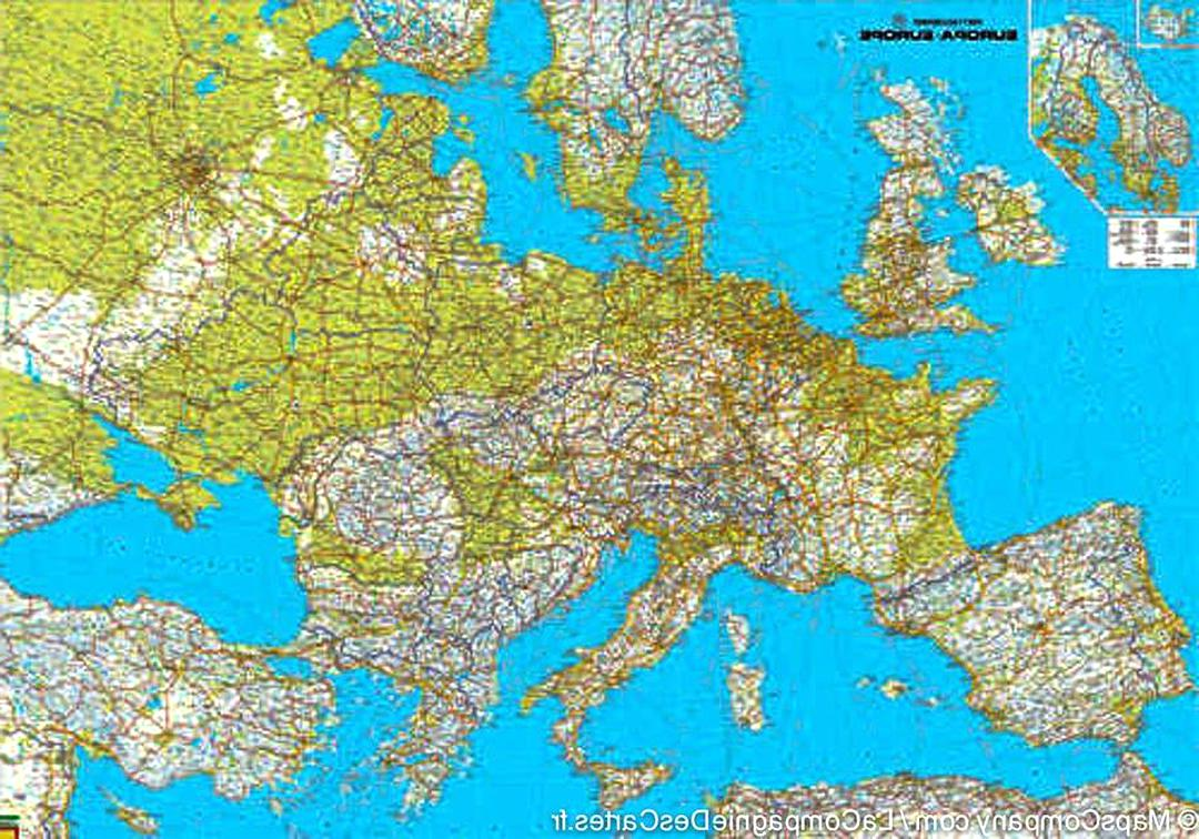 carte routiere europe d'occasion
