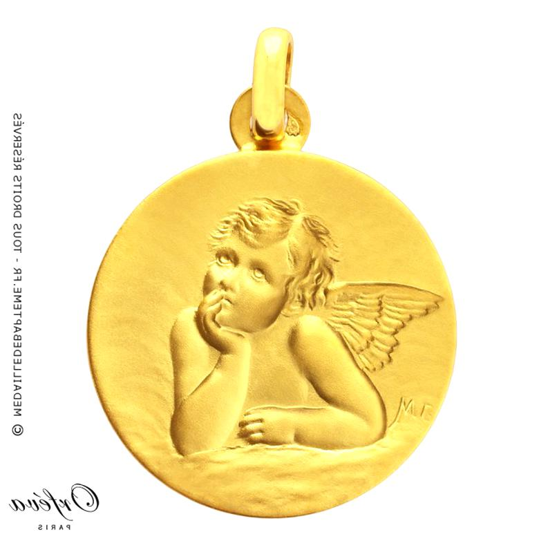 medaille ange d'occasion