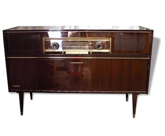 meuble radio tourne disque grundig d'occasion