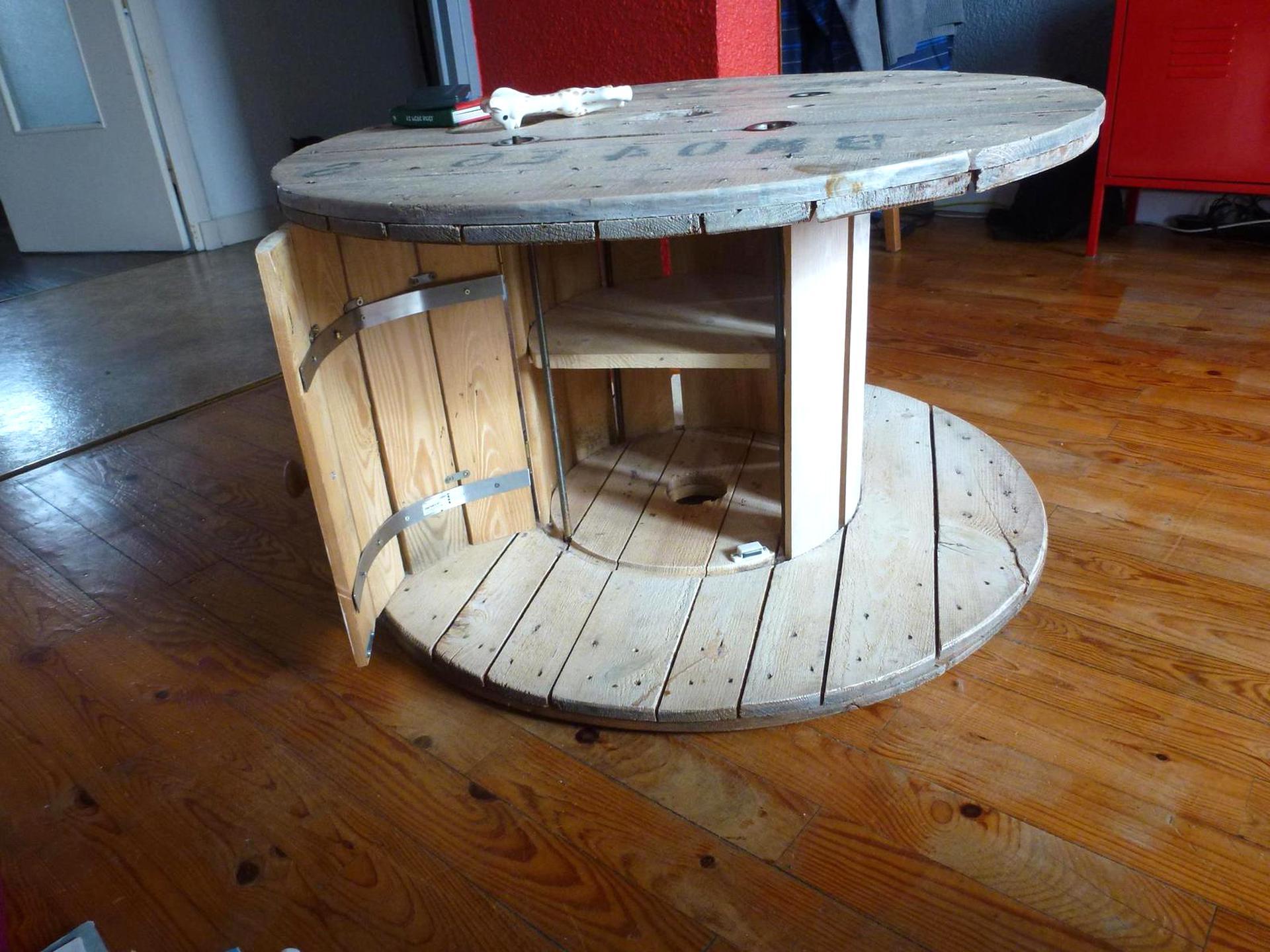 Table Basse Bobine De Chantier