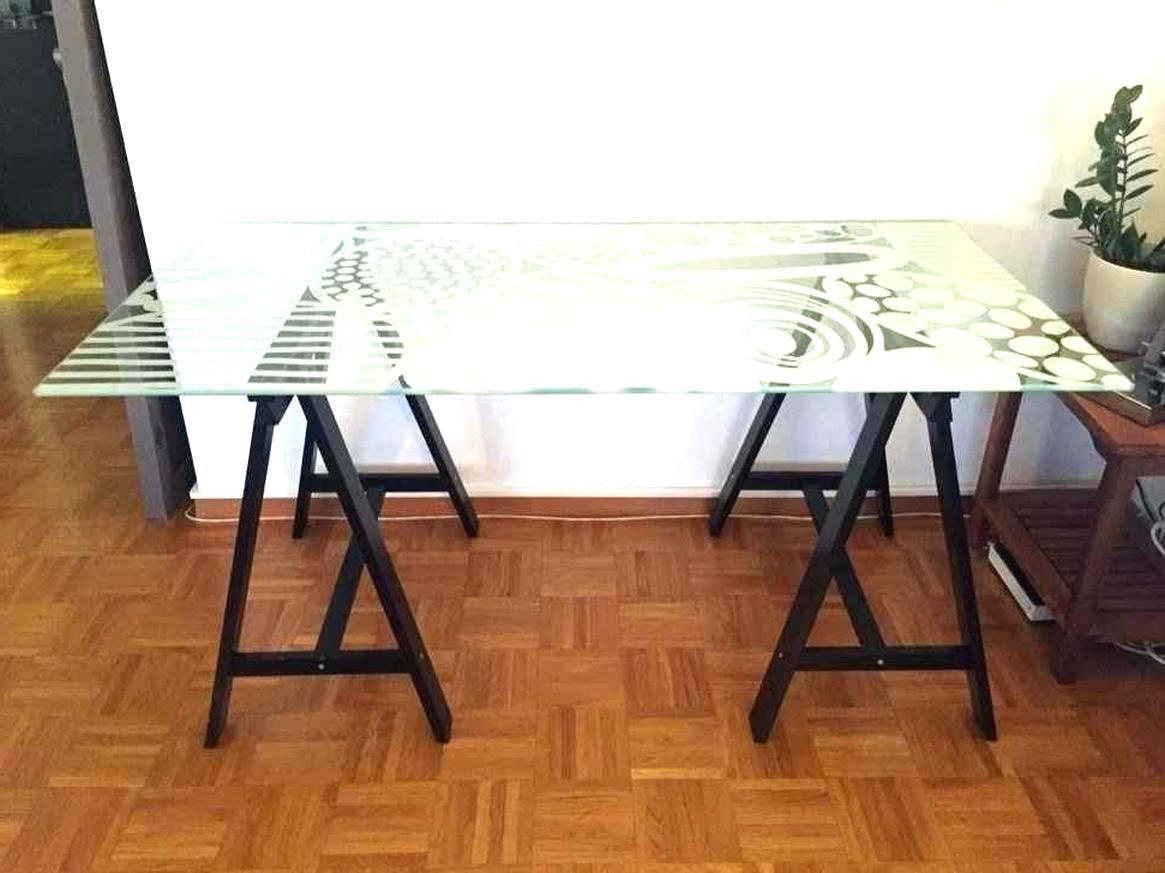 Plateau Bureau Verre Ikea d'occasion