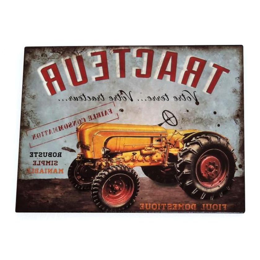 plaque publicitaire tracteur d'occasion