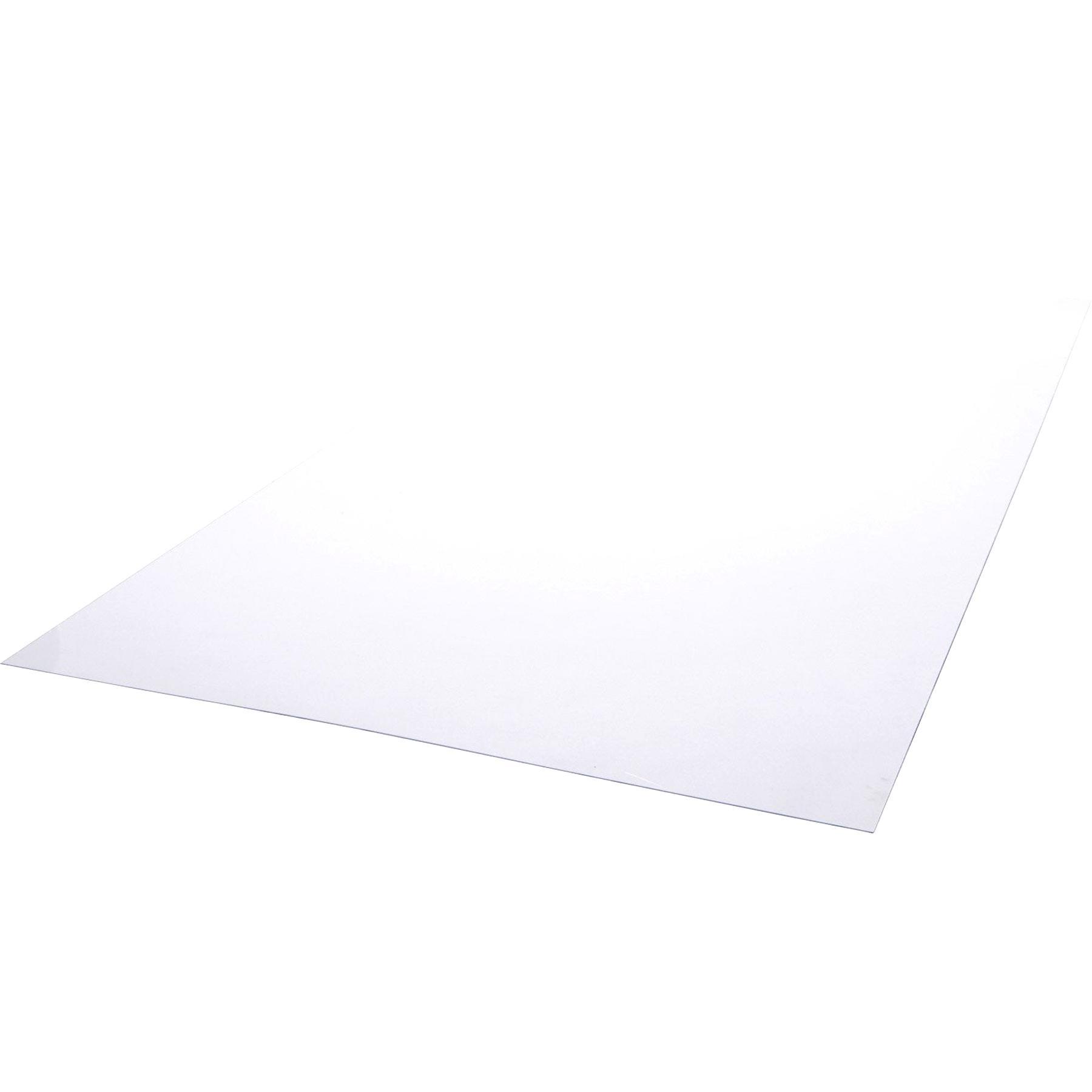 Plaque coup/é PVC rigide 1000 x 495 x 3 mm noir