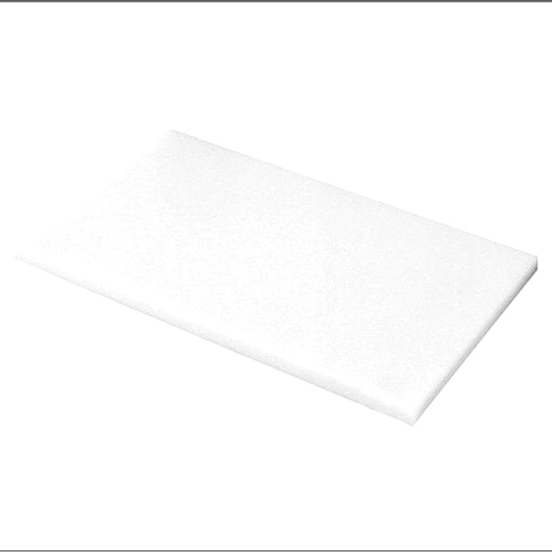 Plaque coup/é de PE rigide 495 x 495 x 20 mm noir Poly/éthyl/éne