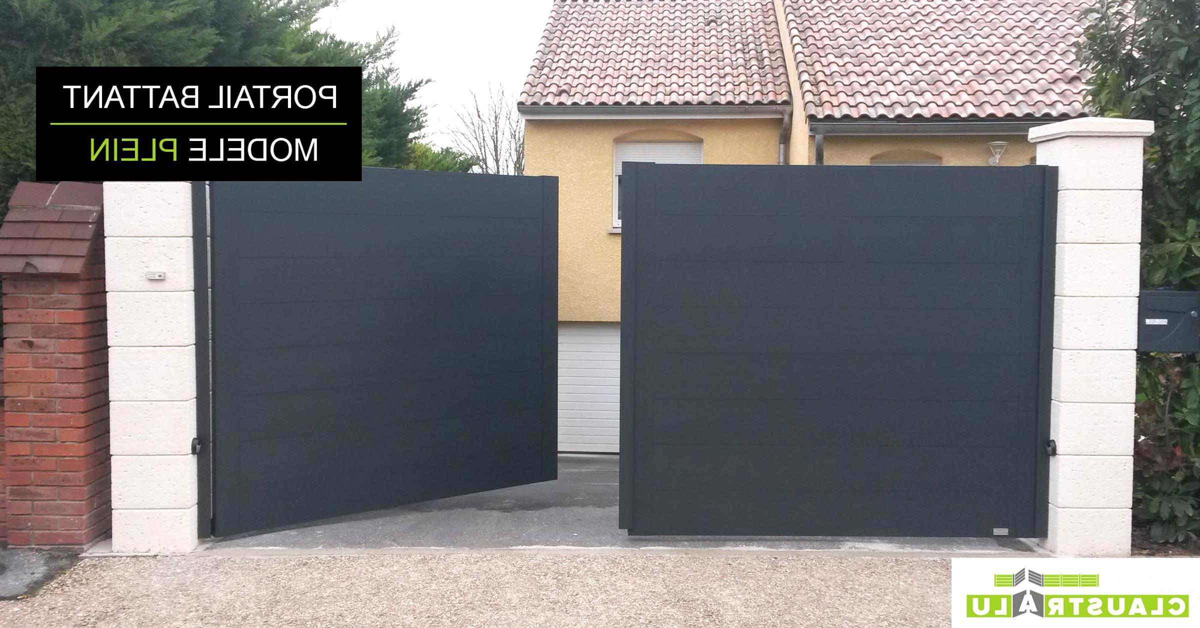Portail Aluminium 3m50 Doccasion