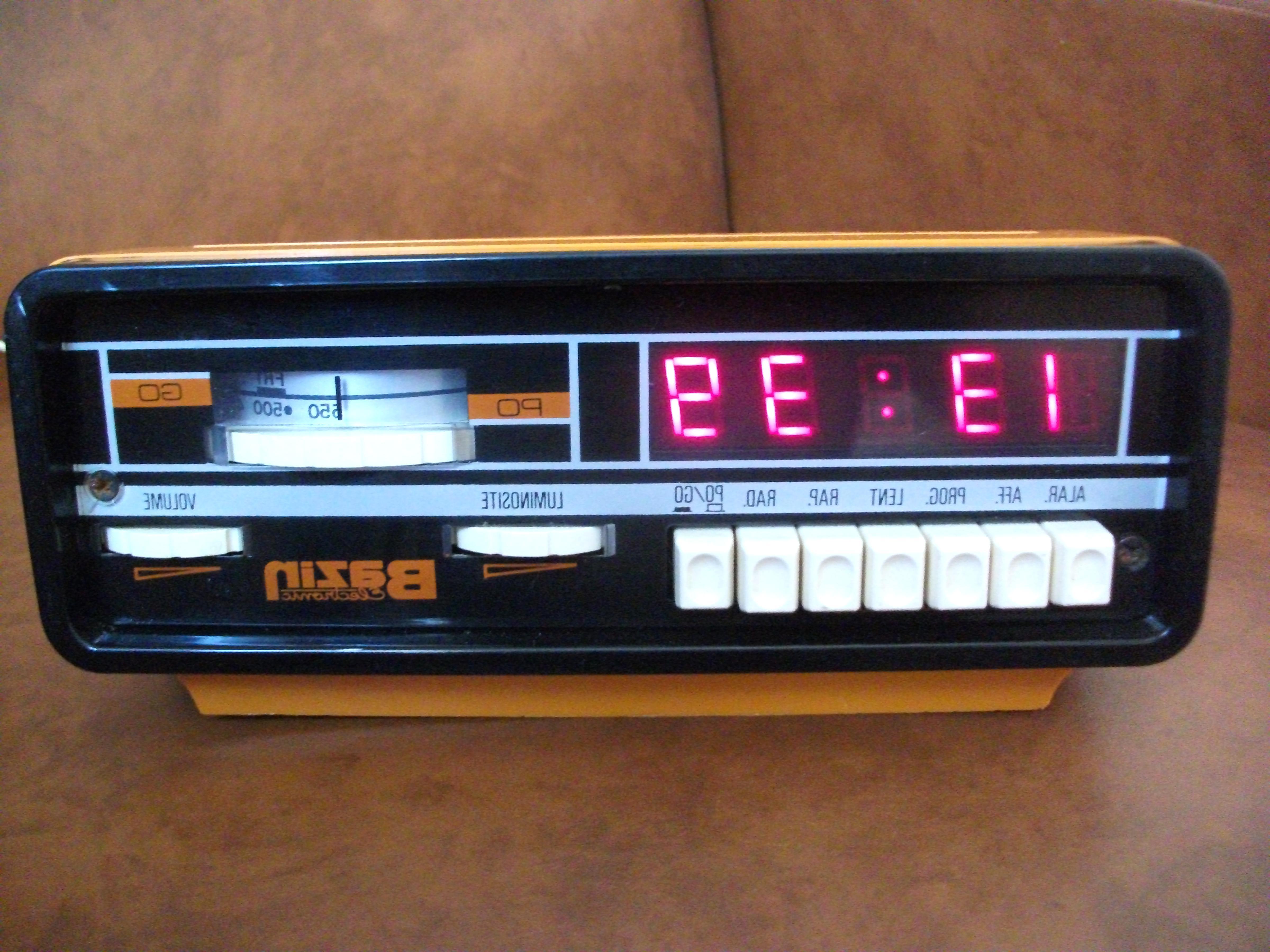 radio reveil vintage d'occasion