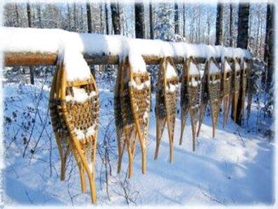 raquette neige bois d'occasion