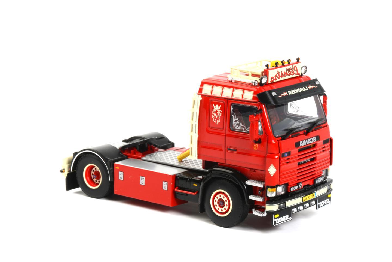 WSI07-1012 Porteur SCANIA R143 6x2 avec remorque 2 essieux