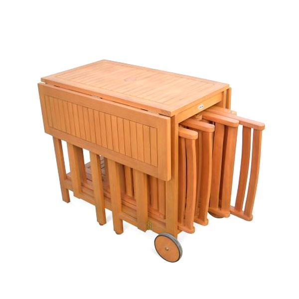 table jardin bois pliable