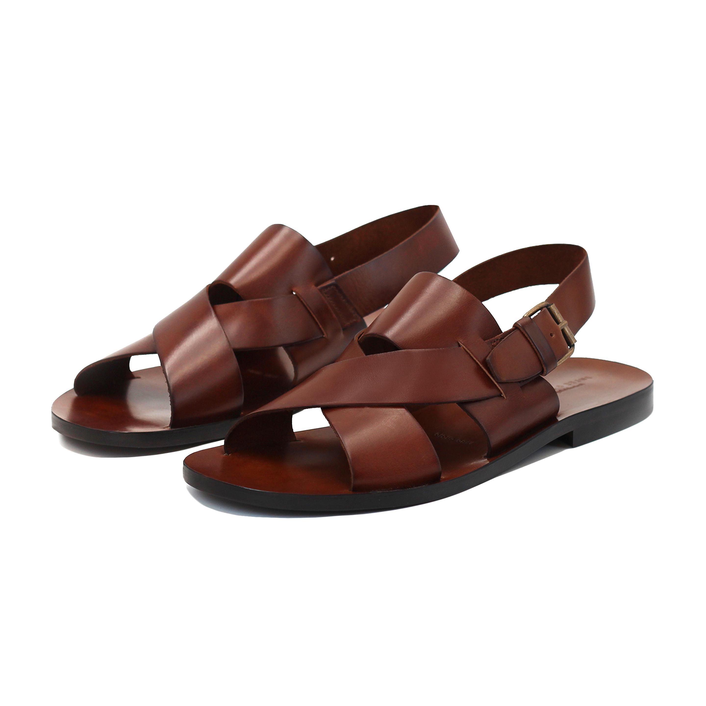 homme cuir sandales d'occasion