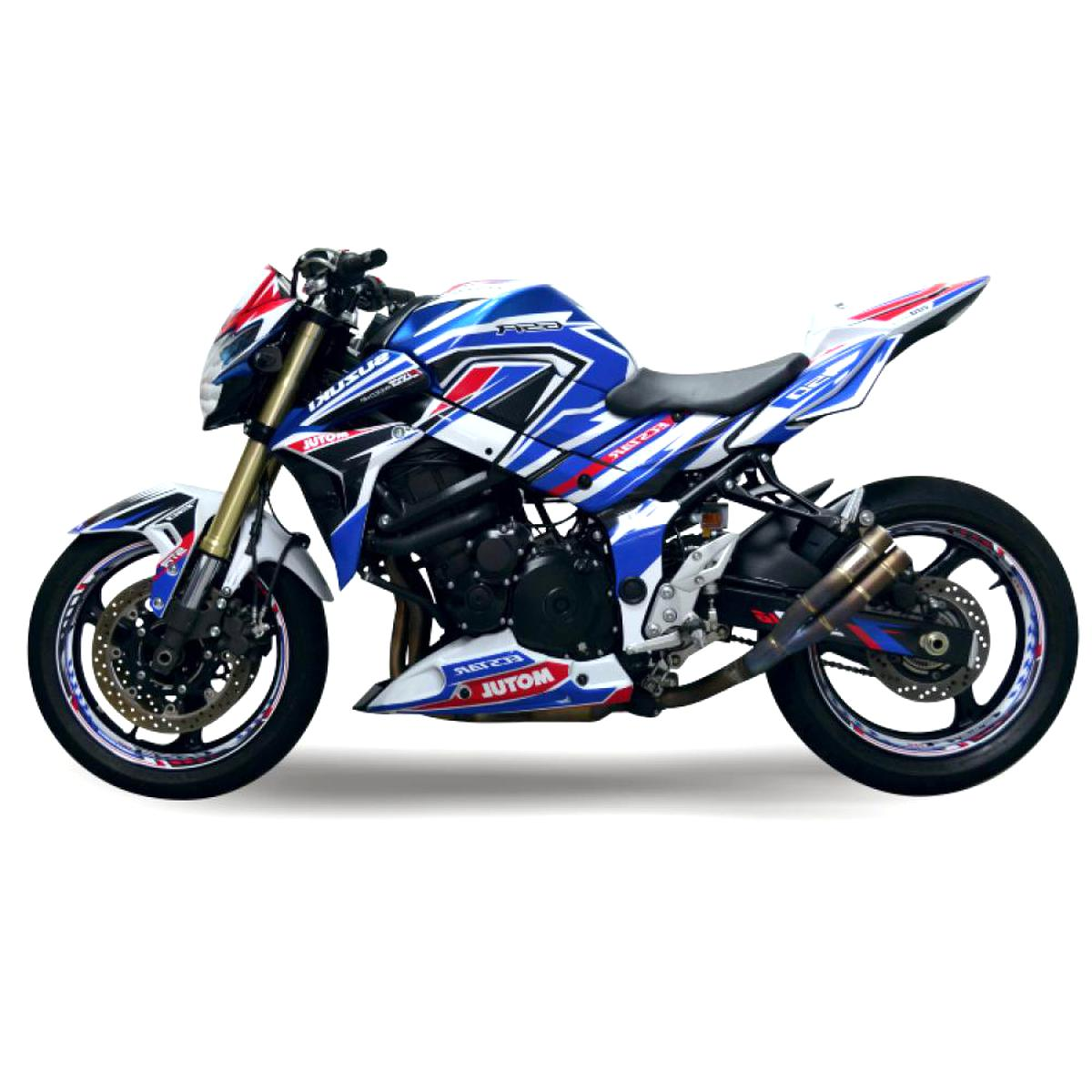 IMPRESSIATA Liserets de Jantes SpecialGP Moto Suzuki GSR 600 Blanche Autocollants