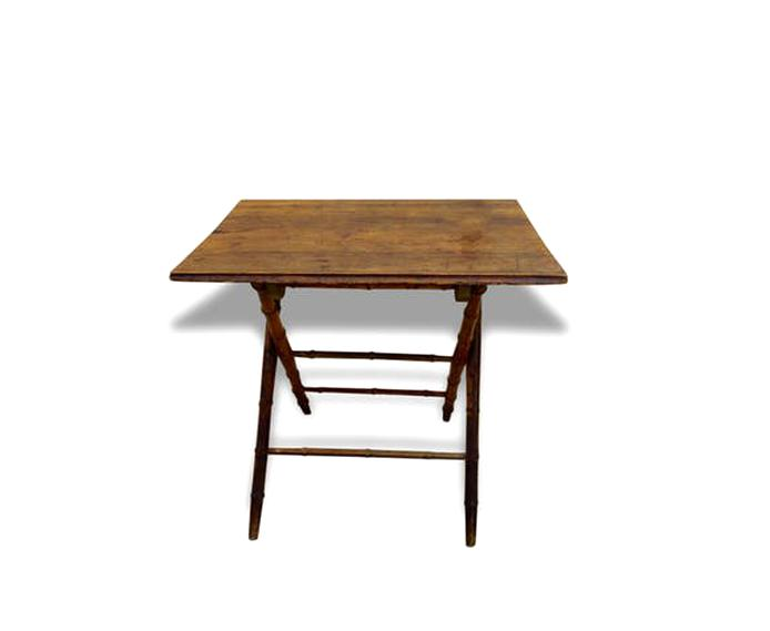 table pliante bois ancienne