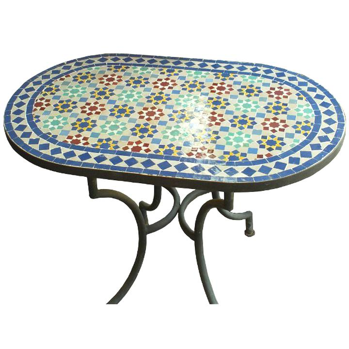 table marocaine zellige