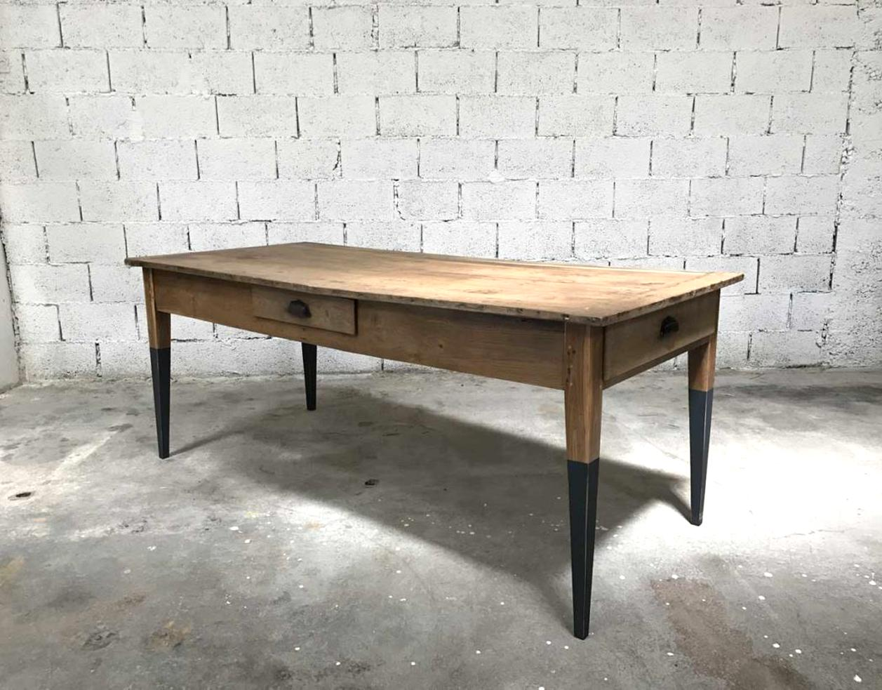 Table Ferme Ancienne Tiroirs D Occasion