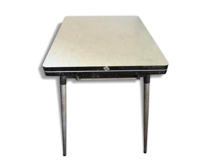Table Tripode Porte Fleurs Vintage Formica Vert