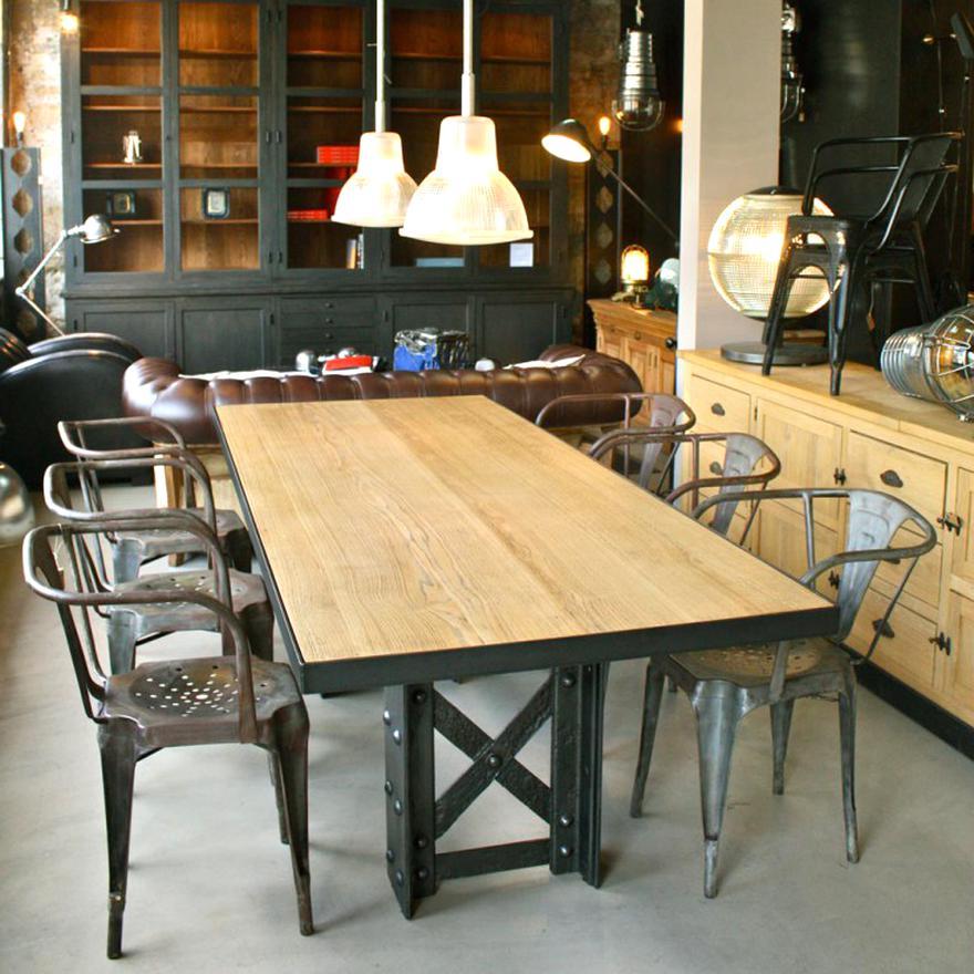 Table Industrielle Bois